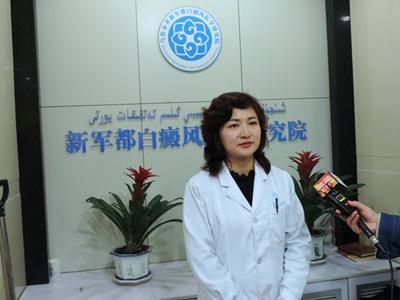 院长马新萍接受采访